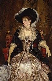 La regina Margherita in un ritratto di Michele Gordigiani
