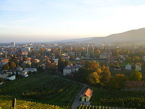 Kalvarija (hill) - View of the city from the hill