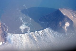 Markhambreen glacier in Svalbard