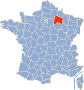 Communes of the Marne department - Image: Marne Position