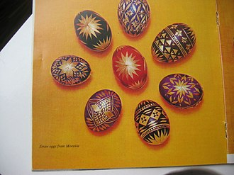 Straw marquetry - Image: Marquetry Eggs