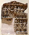 Marriage scene اheld by and attended by Shamash and other deities and worshipers, 2nd-3rd century CE. From Hatra, Iraq. Iraq Museum.jpg