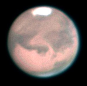 Albedo feature - Mars by telescope.