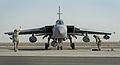 Marshalling a RAF Tornado GR4 in the Middle East MOD 45157233.jpg