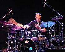 Martin Valihora on drum, Hiromi Uehara in Mendrisio, 2007-06-30.jpg