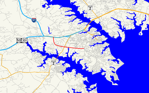 Maryland Route 665 - Image: Maryland Route 665 map