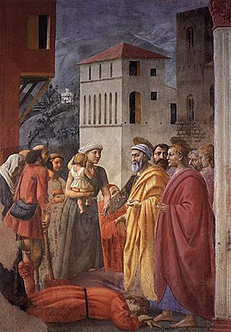 Masaccio - The Distribution of Alms and the Death of Ananias - WGA14184