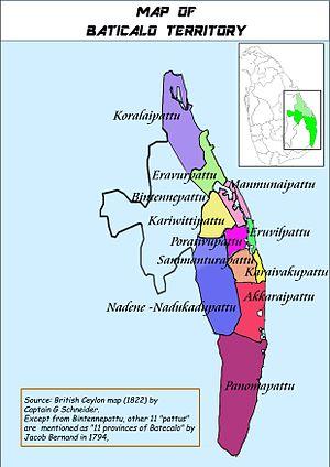 Batticaloa region - Image: Matecalo Desam