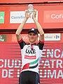 Matej Mohorič tras ganar la séptima etapa de La Vuelta Ciclista a España 2017.jpg