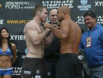 UFC 63 - Matt Hughes and BJ Penn at the weigh-ins.