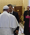 Mauricio Macri with Franciscus and Georg Gänswein.jpg