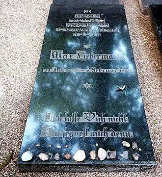 Max Liebermann - Image: Maxliebermannreal grave original