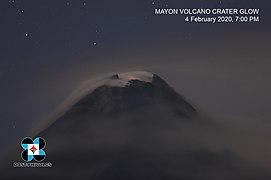 Mayon Volcano 2020 Crater Glow.jpg