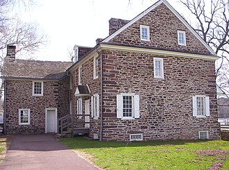 George Washington's crossing of the Delaware River - McConkey's Ferry Inn, the tavern that Washington and his crew visited prior to crossing the river