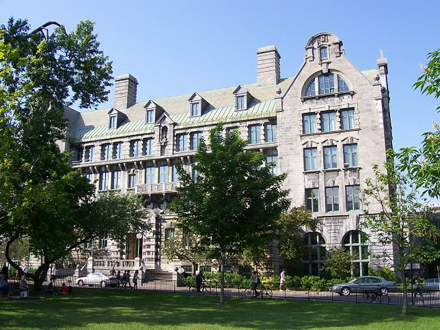 McGill Engineering Building by No machine-readable author provided. Beltz~commonswiki assumed (based on copyright claims). [Public domain], via Wikimedia Commons