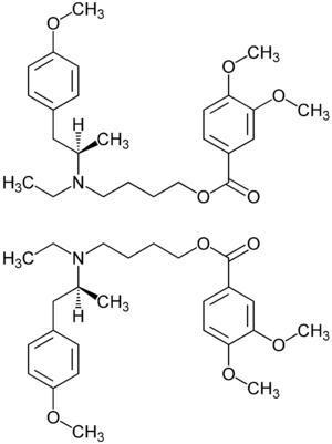 Mebeverin-Enantiomere Strukturformeln.png