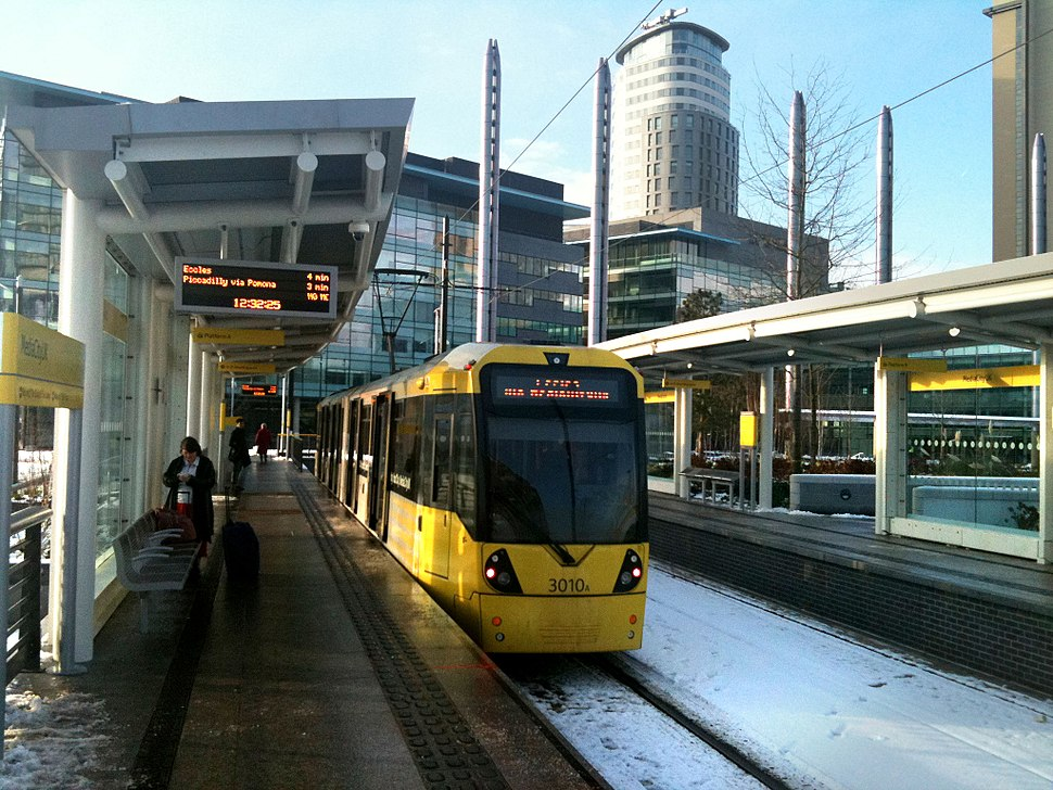 Media city metrolink station