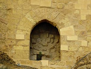 Sally port - A blocked-up medieval sally port at the Cittadella in Gozo, Malta