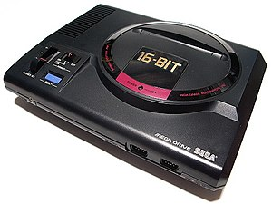 The first Japanese model of the Sega Mega Drive