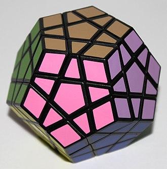 Megaminx - A 12-color Megaminx, solved