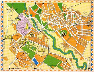 Meknes - Monumental map of the city of Meknes