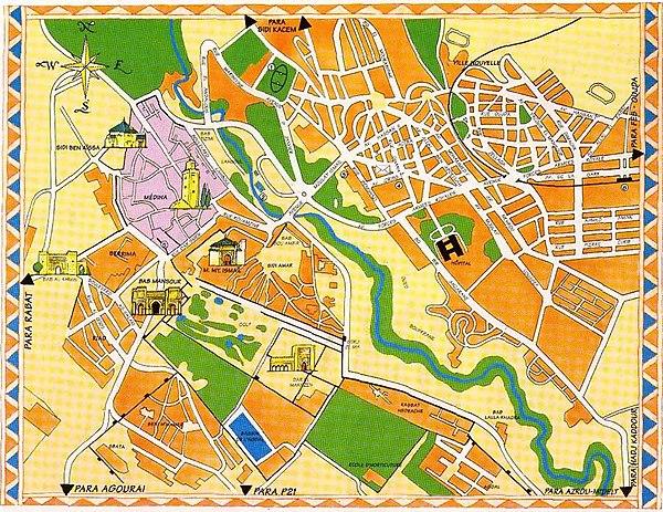 Meknes-map