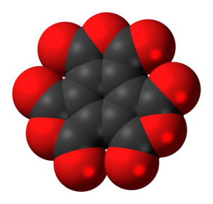 Mellitic anhydride - Image: Mellitic anhydride 3D spacefill