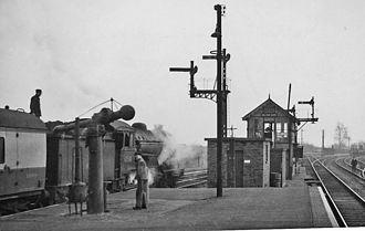 Melton Constable railway station - Melton Constable in 1958