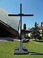 Memorial Cross, Eusebius of Esztergom Church, 2016 Csillaghegy.jpg