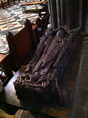 Hugh of Northwold - Memorial to Bishop Hugh de Northwold in Ely Cathedral