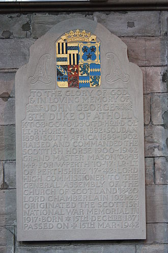 John Stewart-Murray, 8th Duke of Atholl - Memorial to John George, 8th Duke of Atholl, Dunkeld Cathedral