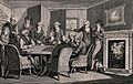 Men gathered around a table as Philidor plays a game of ches Wellcome V0040233.jpg