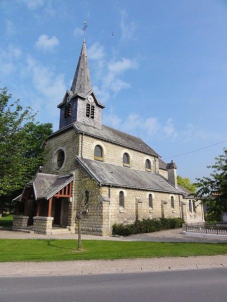Menneville (Aisne) Église
