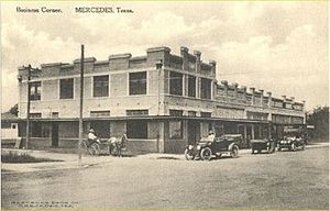 Mercedes, Texas - Downtown Mercedes in 1915.