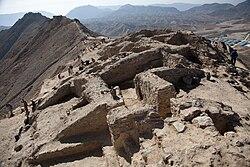 Overblijfselen van een boeddhistisch klooster bij Mes Aynak