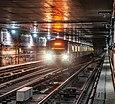 Une rame de métro dans le métro de São Paulo