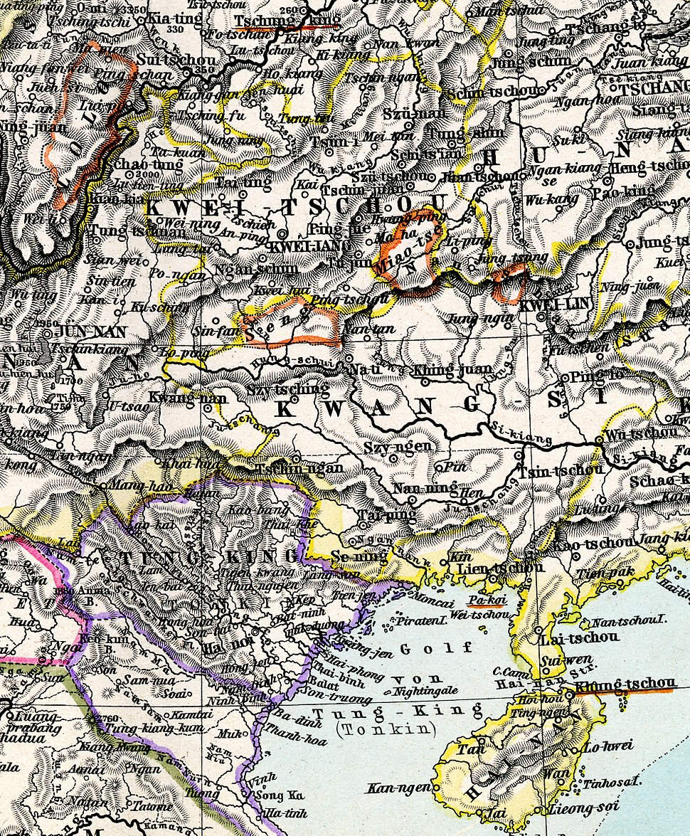 Miao enclave in China 1891