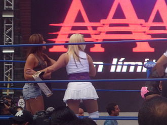 Mickie James - James (left) and Sexy Star (right) at the 2011 Verano de Escándalo event