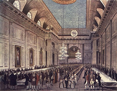 Freemasons' Hall, London, c. 1809 Microcosm of London Plate 038 - Freemasons' Hall.jpg