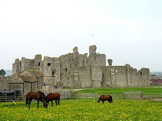 Richard III of England - The ruins of the twelfth century castle at Middleham in Wensleydale where Richard was raised