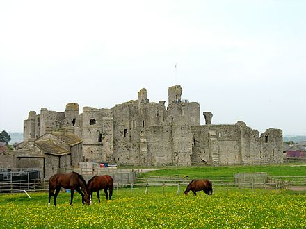 Middleham Castle came into the possession of the Neville family in 1270. MiddlehamCJW.jpg