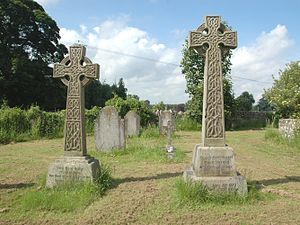 Victor Child Villiers, 7th Earl of Jersey - Graves of the 7th (left) and 8th (right) Earls of Jersey in All Saints' parish churchyard, Middleton Stoney, Oxfordshire