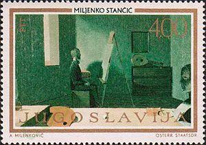 Miljenko Stančić - Painting by Stančić on a 1973 Yugoslav stamp