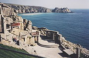 Minack Theatre, carved from the cliffs.