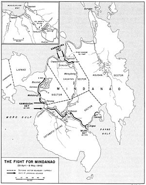 Japanese invasion of Davao - Image: Mindanao Apr 1942