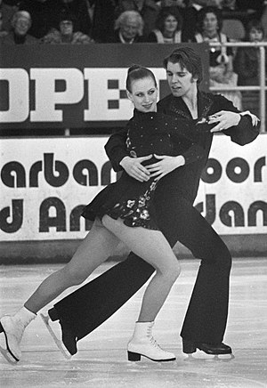 Ice dancing - Ice dancing in 1976, its first year as an official Olympic sport  (Irina Moiseeva / Andrei Minenkov)