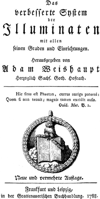 """Illuminati - The Owl of Minerva perched on a book was an emblem used by the Bavarian Illuminati in their """"Minerval"""" degree."""
