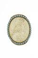 Miniatyrporträtt skuret i pärlemor på Karl XI från 1670 cirka - Livrustkammaren - 97857.tif