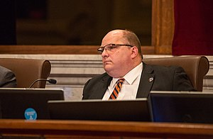 John Quincy (Minnesota politician) - Quincy in 2015 in the City Council chambers