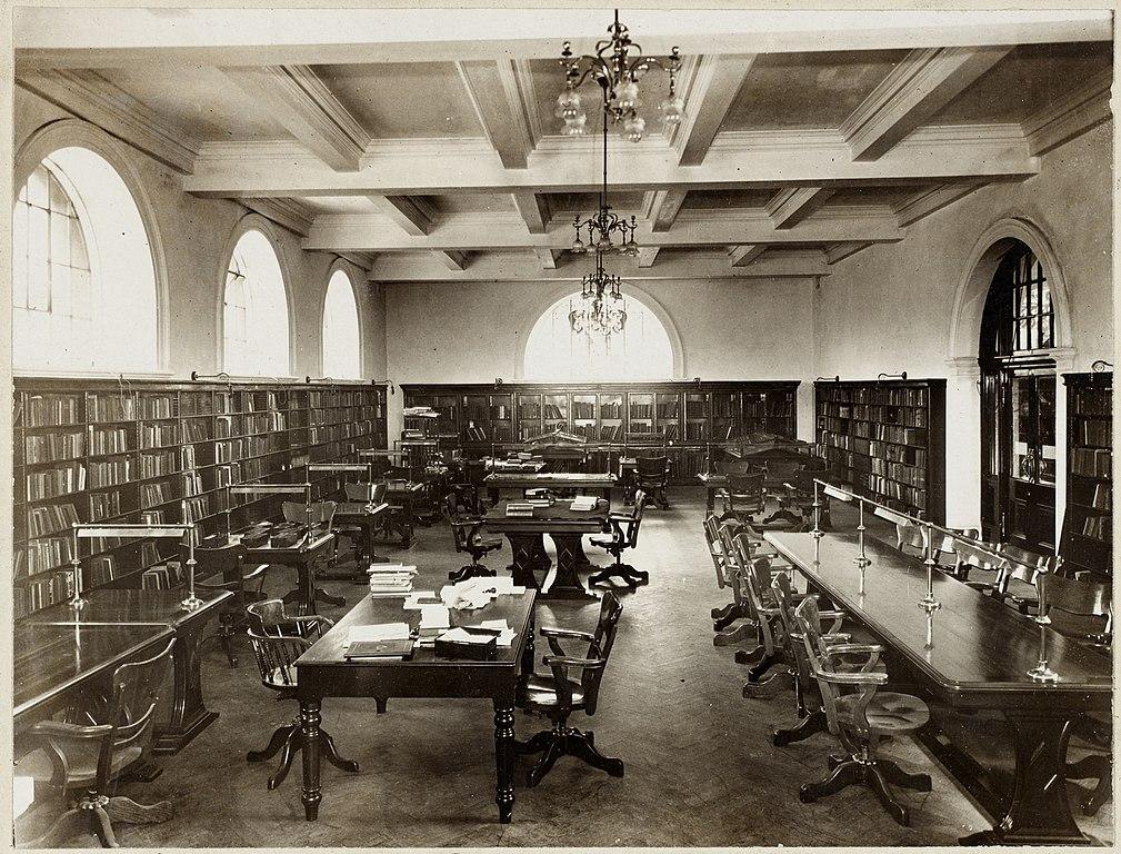Bibliothèque Mitchell Library à Glasgow en Ecosse en 1910.
